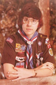 Charles Spain in 1976 wearing his official Scout uniform.