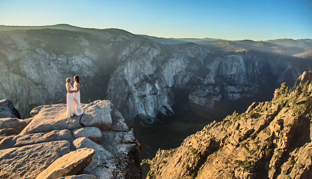 Photo of Taking Vows to New Heights: Lauryn Bohac and Chelsea Marvos' Edgy Wedding