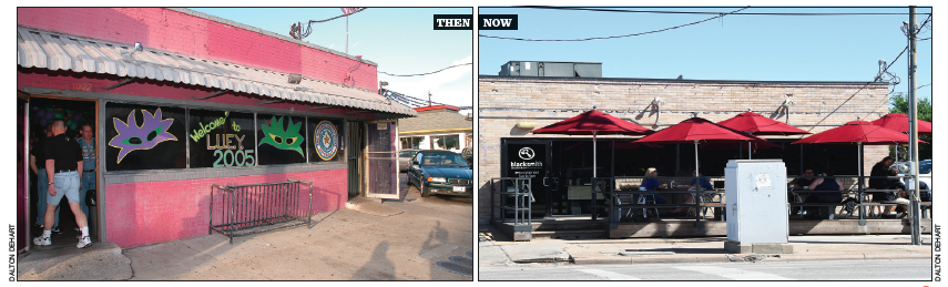 Sobering Up: The venerable Mary's at last succumbed to progress and was replaced by the Blacksmith coffee house. Photos: Dalton DeHart