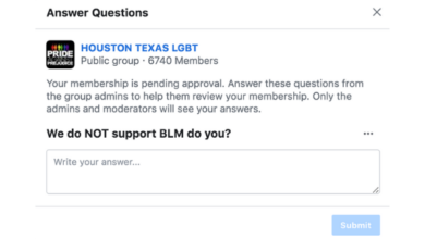 Photo of Local LGBTQ Facebook Group Denounces Black Lives Matter